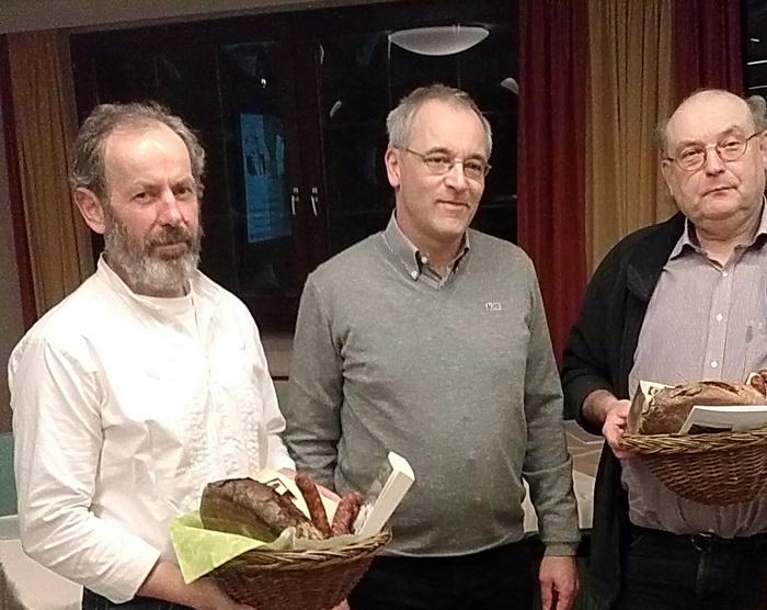 Würdigung: Dieter Gottmann, Hubertus Protz und Reinhold Melzer (v.l.)
