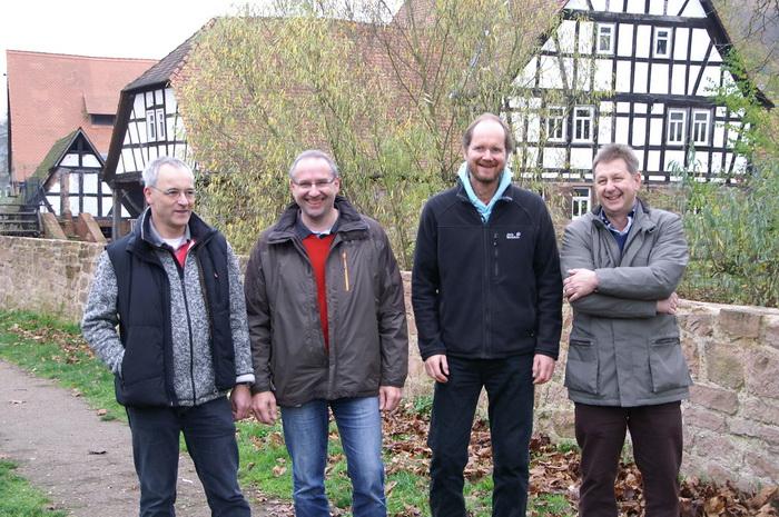 v.l.: Hubertus Protz, Thomas Geiss, Hans Joachim Beckmann, Karl-Heinz Trebing