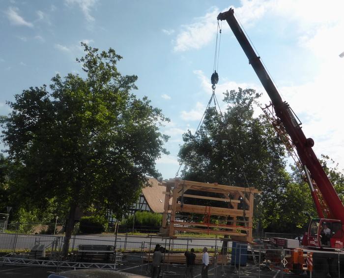 1-55 Tonnen-Kran hebt 2 Tonnen-Brückenteil